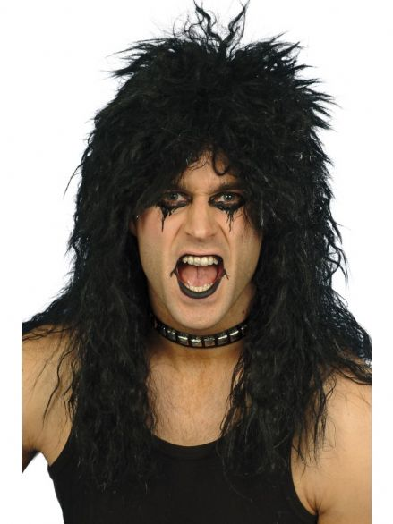 1980's Hard Rocker Black Wig